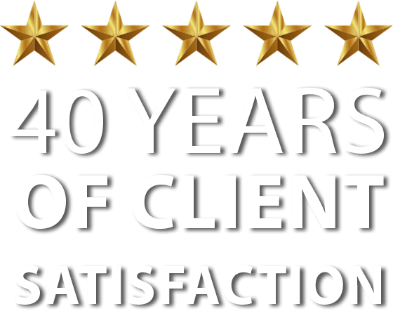 40 Years of Client Satisfaction